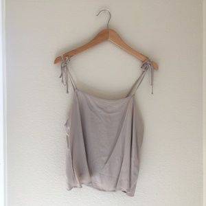 💛Forever 21 Pale Blush Tip Strap Cropped Tank Top